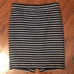 J Crew Stripped Pencil Skirt Size 0
